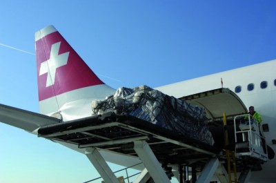 A330-300 airfreight loading at Zurich international airport