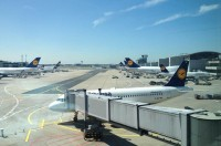Frankfurt Airport seen from the Lufthansa station