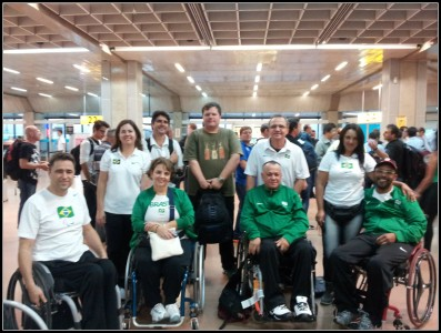 That's the Brazilian team going to the Shooting World Cup in Bangkok.