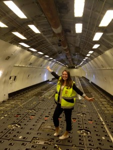 In our Lufthansa Cargo MD11 freighter