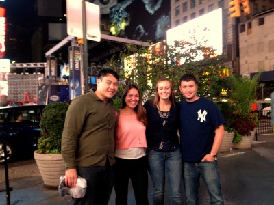 Jed, me, Meagan and Meagan's boyfriend in Times Square