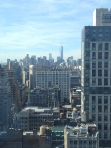 "The view out of my window...in the back is the ""Freedom Tower"", the new world trade center"