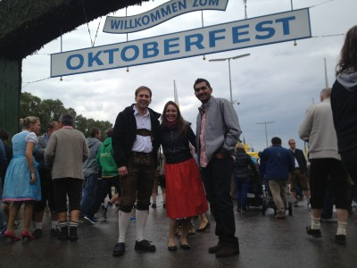 Steven, me, and Mansoor at the famous Oktoberfest sign