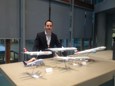 Remo in front of LH Group Airlines at Lufthansa Aviation Center, Frankfurt