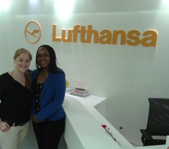Me and my colleague Tinashe in the LH town office in Dubai