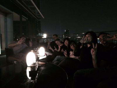 Asia Pacific Marketing Team on a rooftop bar in Bangkok, by Adrian