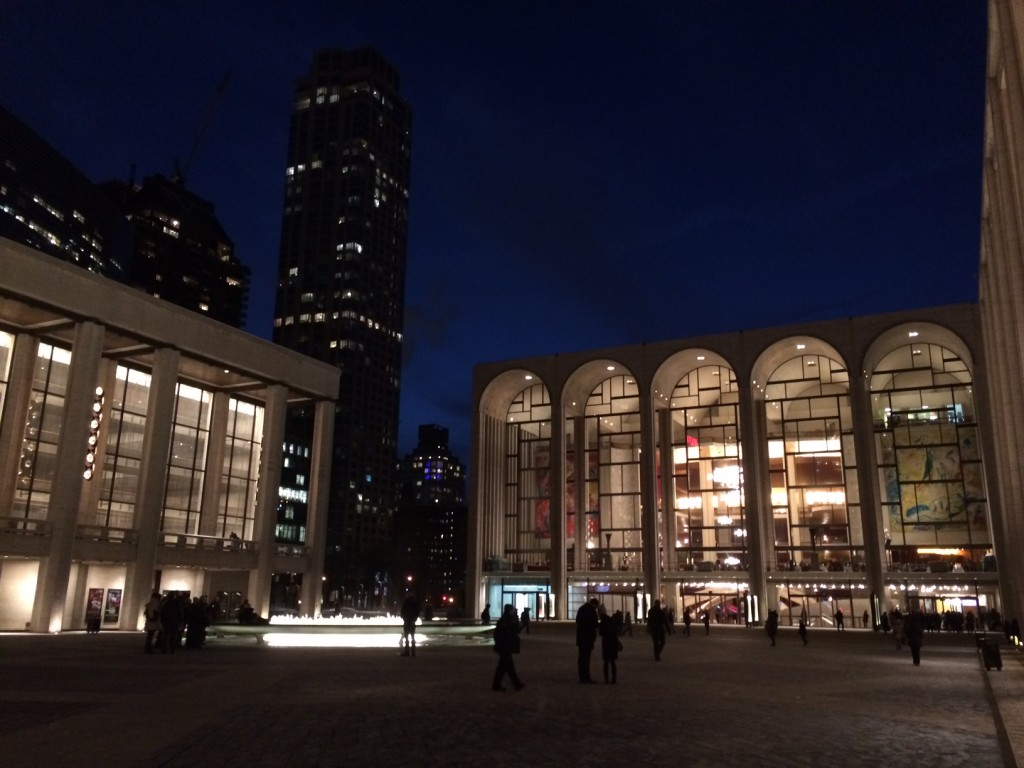 Lincoln Center - one of my favorite places in NYC