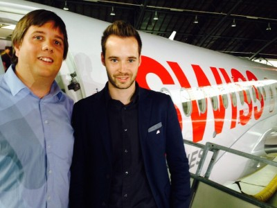 Mark and Reto at the Bombardier CSeries presentation