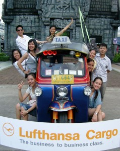 Tuktuks are an easy way to get around.