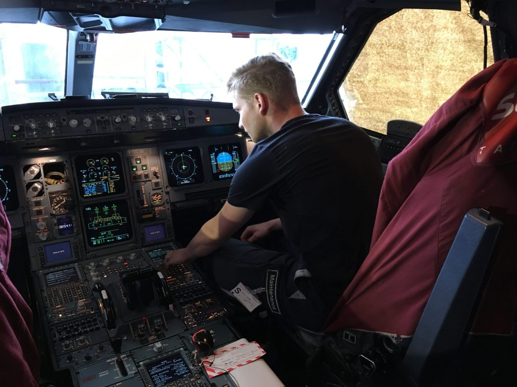 Perform some tests at the cockpit