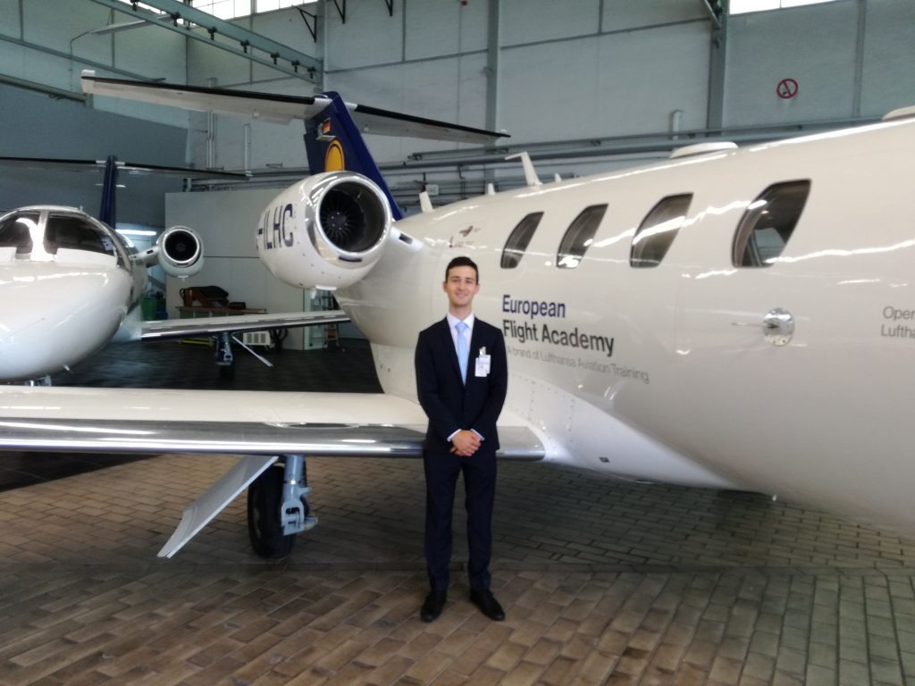 The obligatory picture in front of the Cessna Citation.