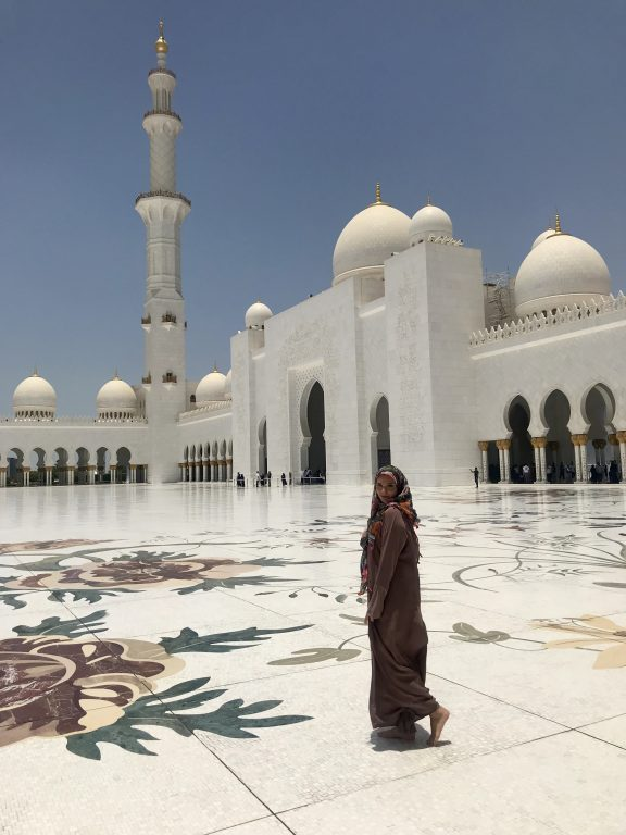 Get to discover the local culture like in this picture- the Grand Mosque of Abu Dhabi- neighbor emirate of Dubai