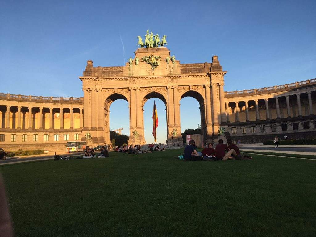 "Brussels has beautiful parcs and a ""fake Brandenburger Tor."""