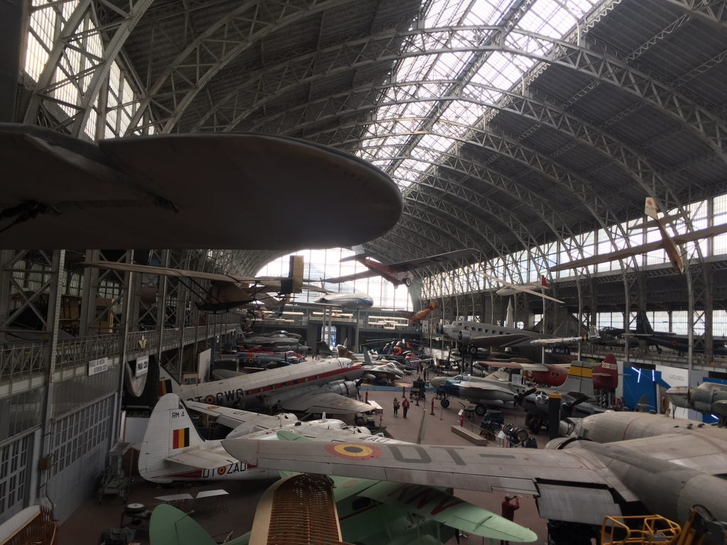 The historic collection of airplanes is a must-see for the trainee introduction in Brussels.