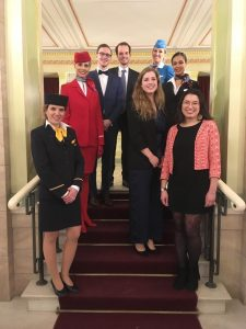Obligatory picture time for us interns with flight attendants in the Berlin Konzerthaus.
