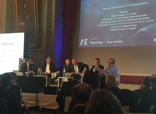My personal highlight so far has been a CEO summit organized by A4E on March 6, only two weeks after I started my internship. The picture shows the final CEO debate with Johan Lundgren (easyJet), Willie Walsh (IAG), Carsten Spohr (LHG), Pieter Elbers (KLM) & Michael O'Leary (Ryanair). Impressive experience!