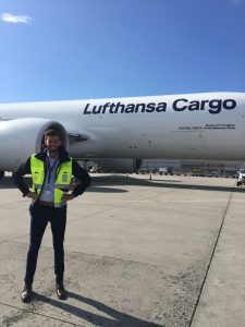 Me on the apron in front of a Boeing 777 Freighter