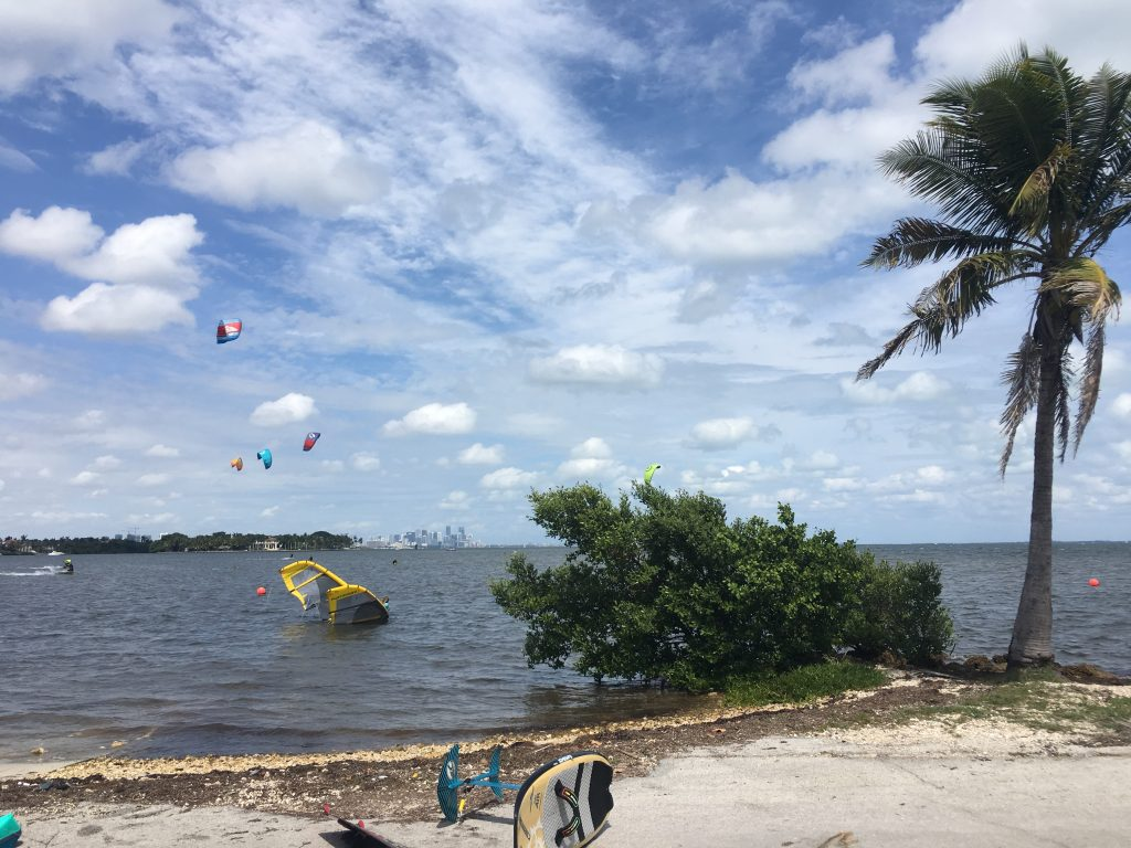 Spending a day kitesurfing in Miami